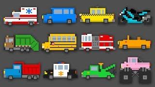 Майнкрафт машины Майнкрафт тачки. Мультик про Машинки для детей. Изучаем транспорт и звуки