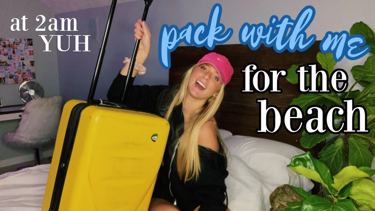pack with me for surprise beach trip!