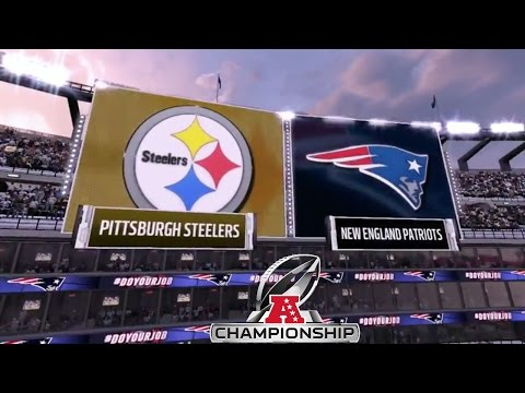 Madden 17: Pittsburgh Steelers Vs New England Patriots (2017 AFC Conference Championship)