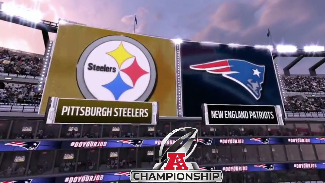 Image result for steelers vs patriots afc championship