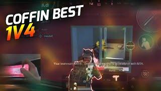 COFFIN BEST 1V4 CLUTCH HANDCAM GAMEPLAY | PUBG MOBILE |
