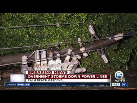 Overnight storms down power lines in Palm Beach Gardens