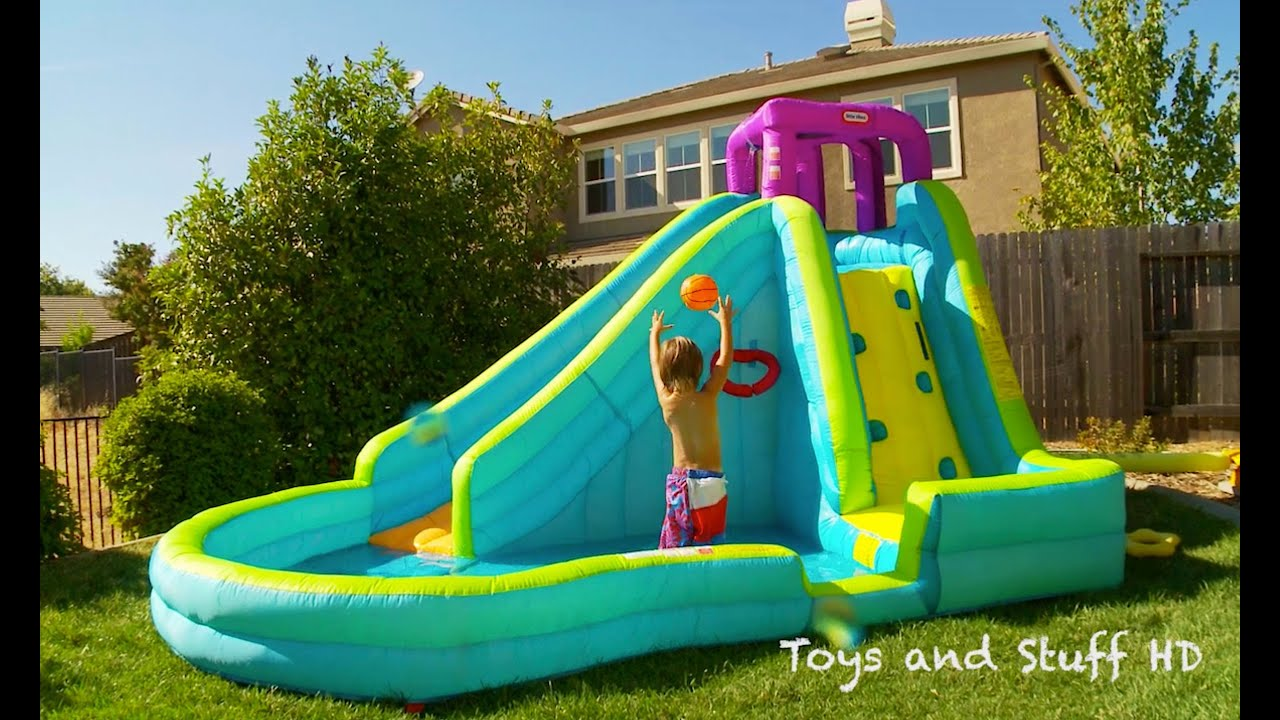 f75b2ee1710 Slam N Curve Water Slide by Little Tikes!