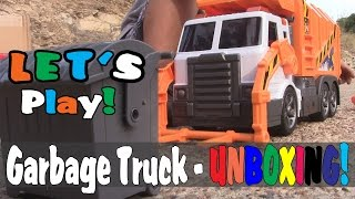 Fast Lane GARBAGE TRUCK Front Loader - UNBOXING and it's AWESOME!