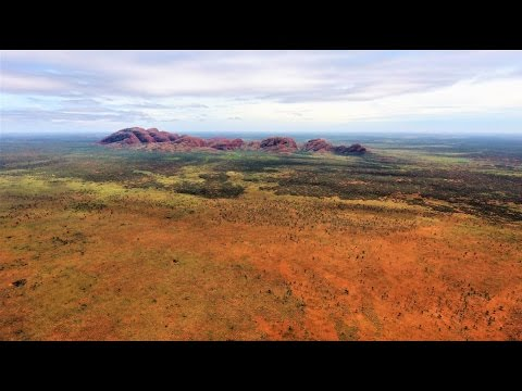 Kata Tjuta Olgas  Drone Footage 4K AUSTRALIA. Aerial view of Kata Tjuta / Mount Olga