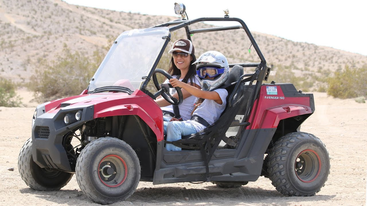 Razor Side By Side >> Riding the Mini RZR 170 Clone- Avenger 150cc- Blades 150cc in the desert - YouTube