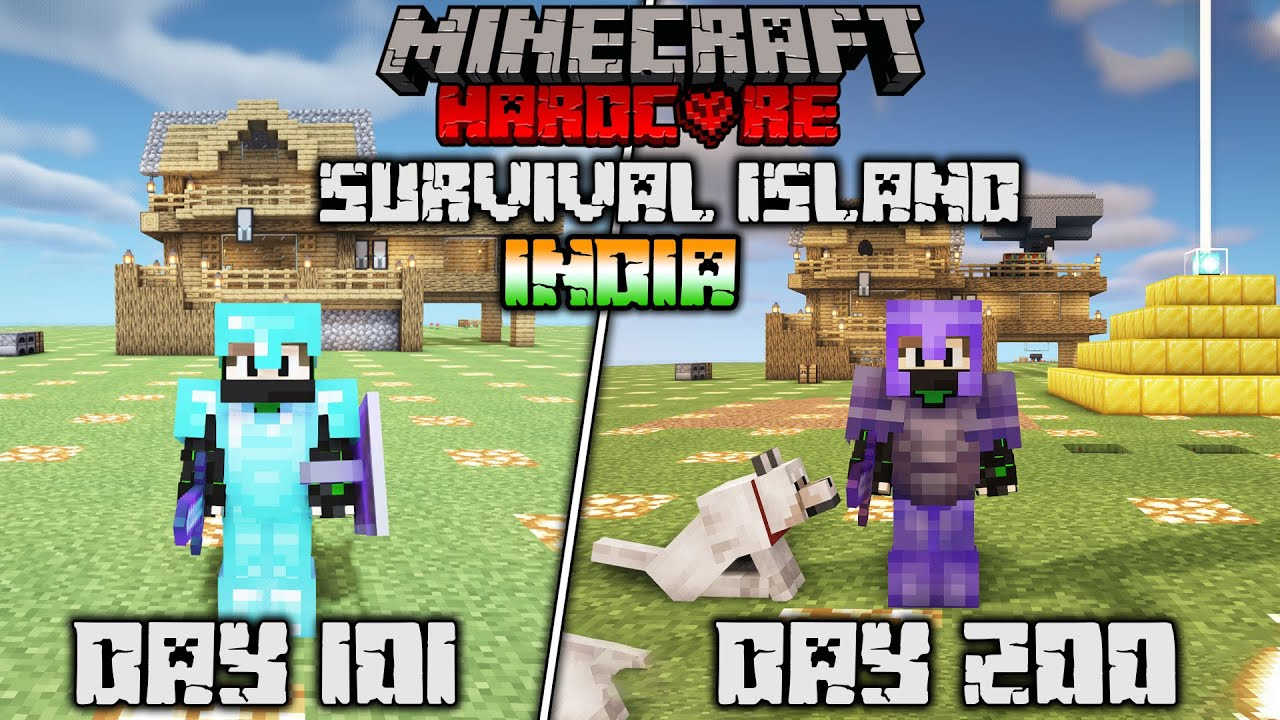 😱I Survived 200 Days On a Survival Island in Minecraft Hardcore Final..(Hindi)