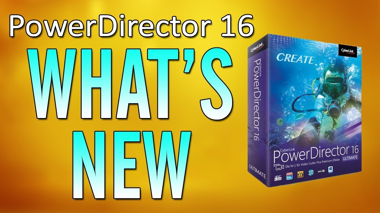 aa24dfc792b56 CyberLink PowerDirector 16 Review   Tutorial - What s New  - YouTube