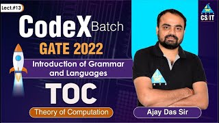 #13   Introduction of Grammar and Languages   Theory of Computation By Ajay Das Sir   CS/IT