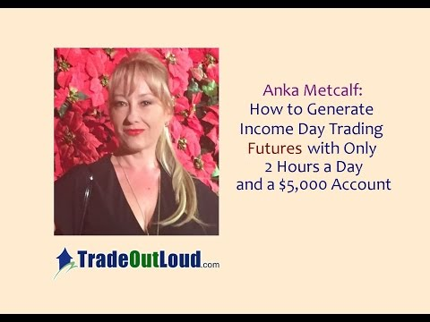 Anka Metcalf: Day Trade Futures w/ $5K + 2 Hours a Day! // emini commodity gold strategy income