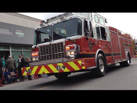 Newmarket Santa Claus Parade 2014, Fire trucks and more.