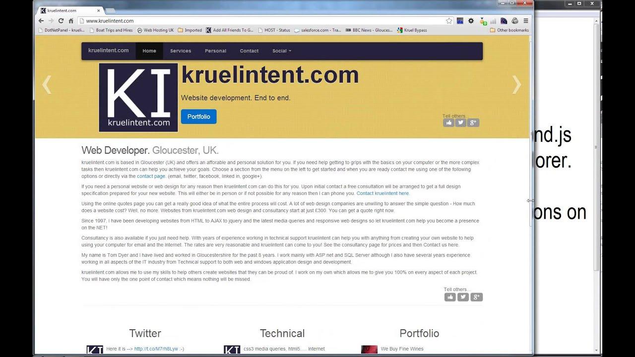Responsive Website  CSS3, HTML5, Internet Explorer, Firefox and Chrome  The  new kruelintent com