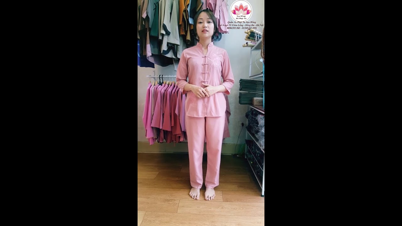 Mẫu áo lam đi chùa đẹp nhất 2018 - Quần áo Phật tử Sen Hồng AOLAMDICHUA.COM