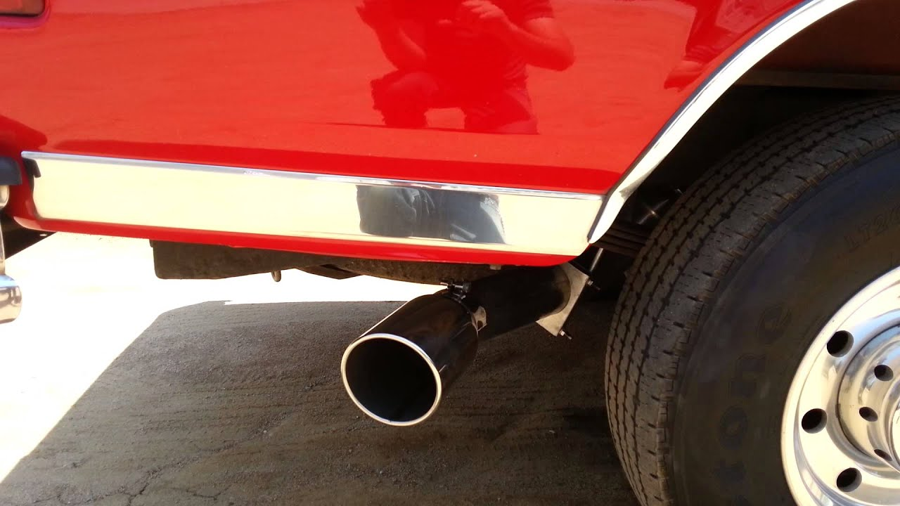 1997 F250 73 With 4 Straight Pipe