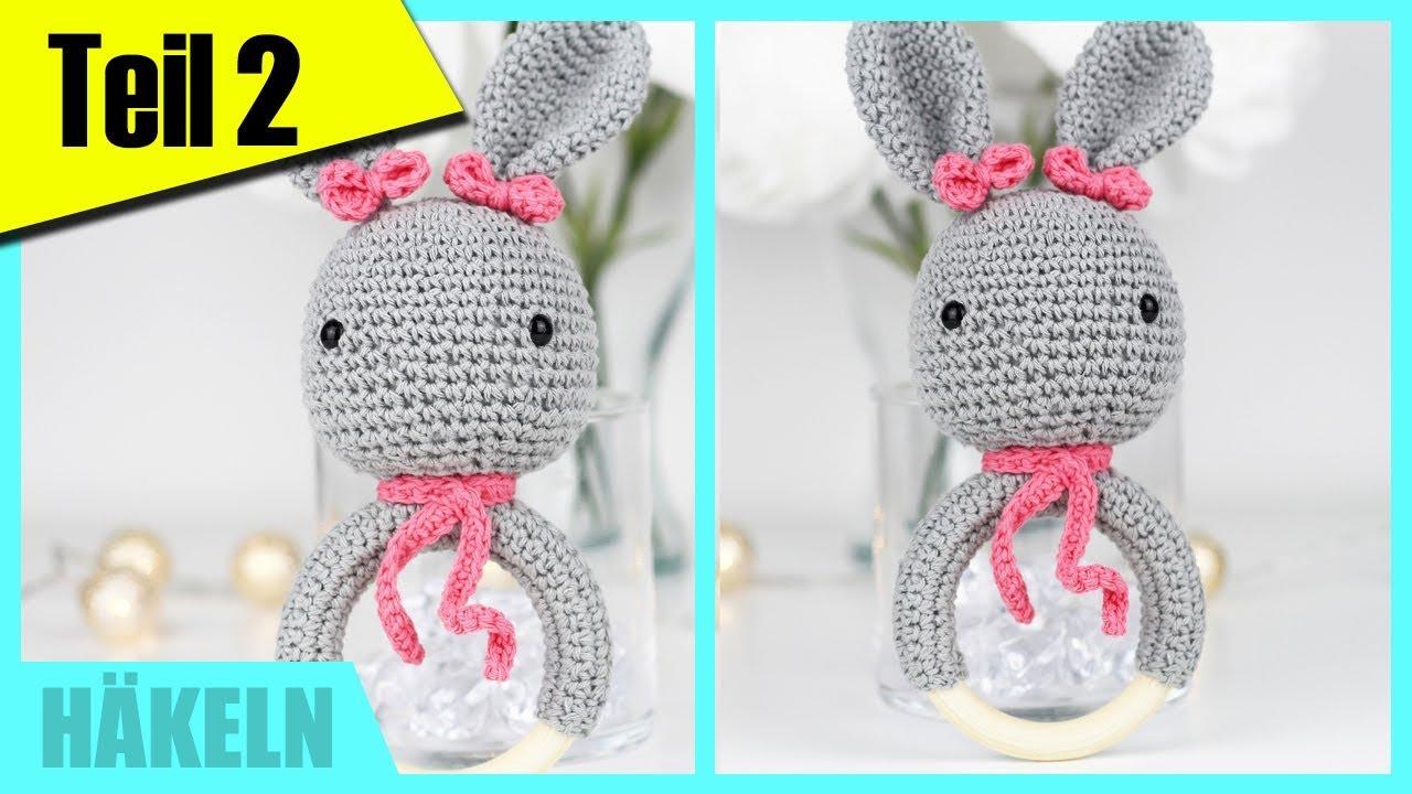 Häkeln für Anfänger: Greifring/Beißring für Babys TEIL 2 »Lalalunia ...