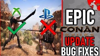 CONAN EXILES MEGA UPDATE XBOX ONE BUT WHAT ABOUT PS4? PATCH NOTES