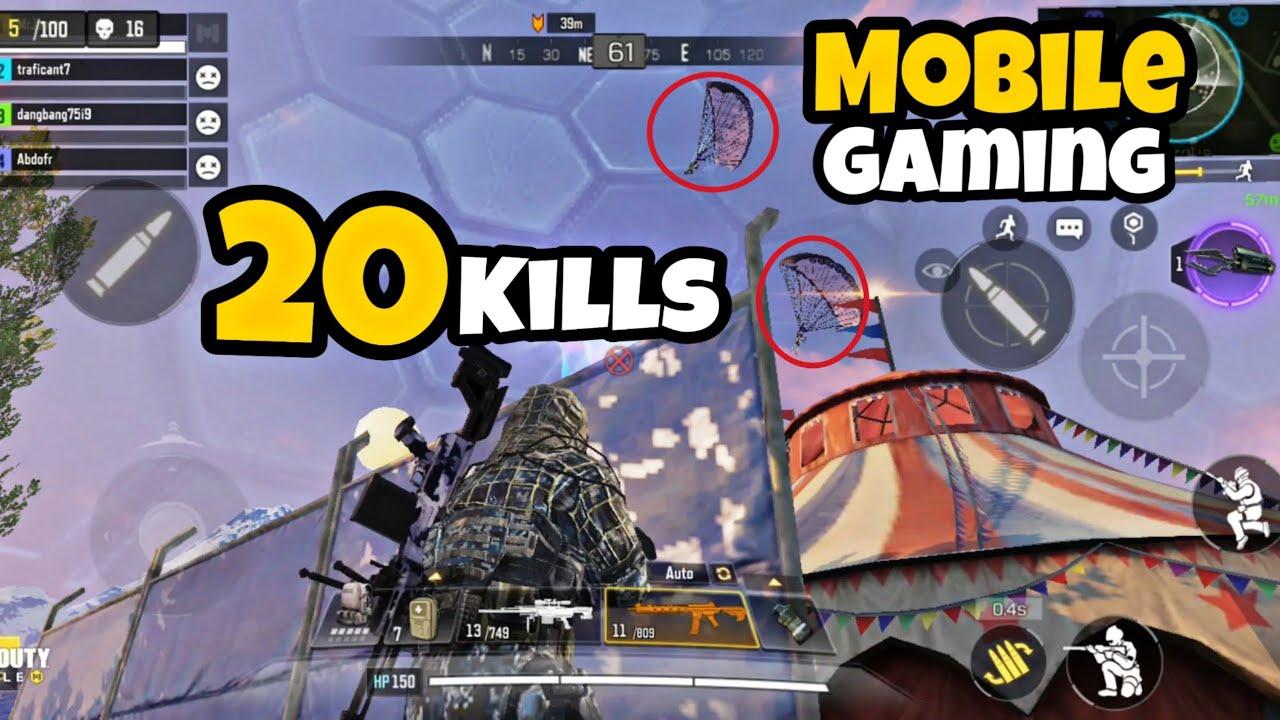 Hd Mobile Call Of Duty Battle Royale / Artic.50 Gameplay / 20 Kills /  Random Squads