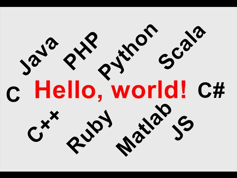Hello world program in 10 different Languages