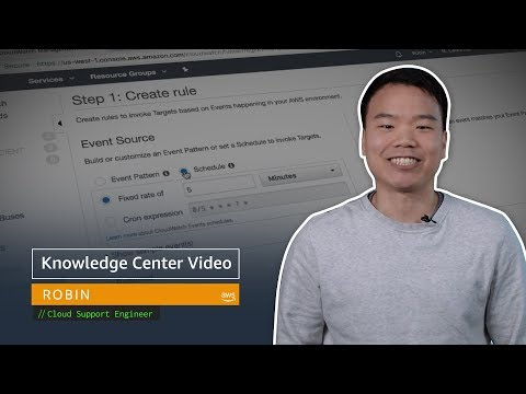 AWS Knowledge Center Videos: How do I set up scheduled snapshots using CloudWatch?