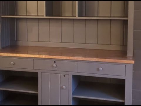 Custom Hutch with Copper Counter Top - Complete Build Video