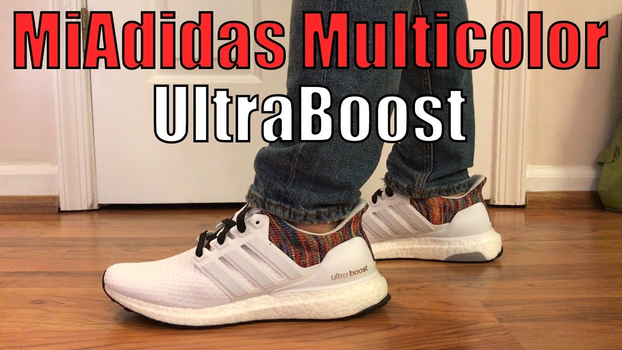 53da390c09671 Adidas MiAdidas UltraBoost Multicolor Review + On Feet - YouTube