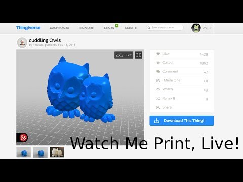 Printing some Cuddly Owls - Hoffman Engineering, Live!