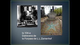 la 104-a Datreveno de la Forpaso de L. L. Zamenhof | 자멘호프 박사 서거 104 주년 기념식