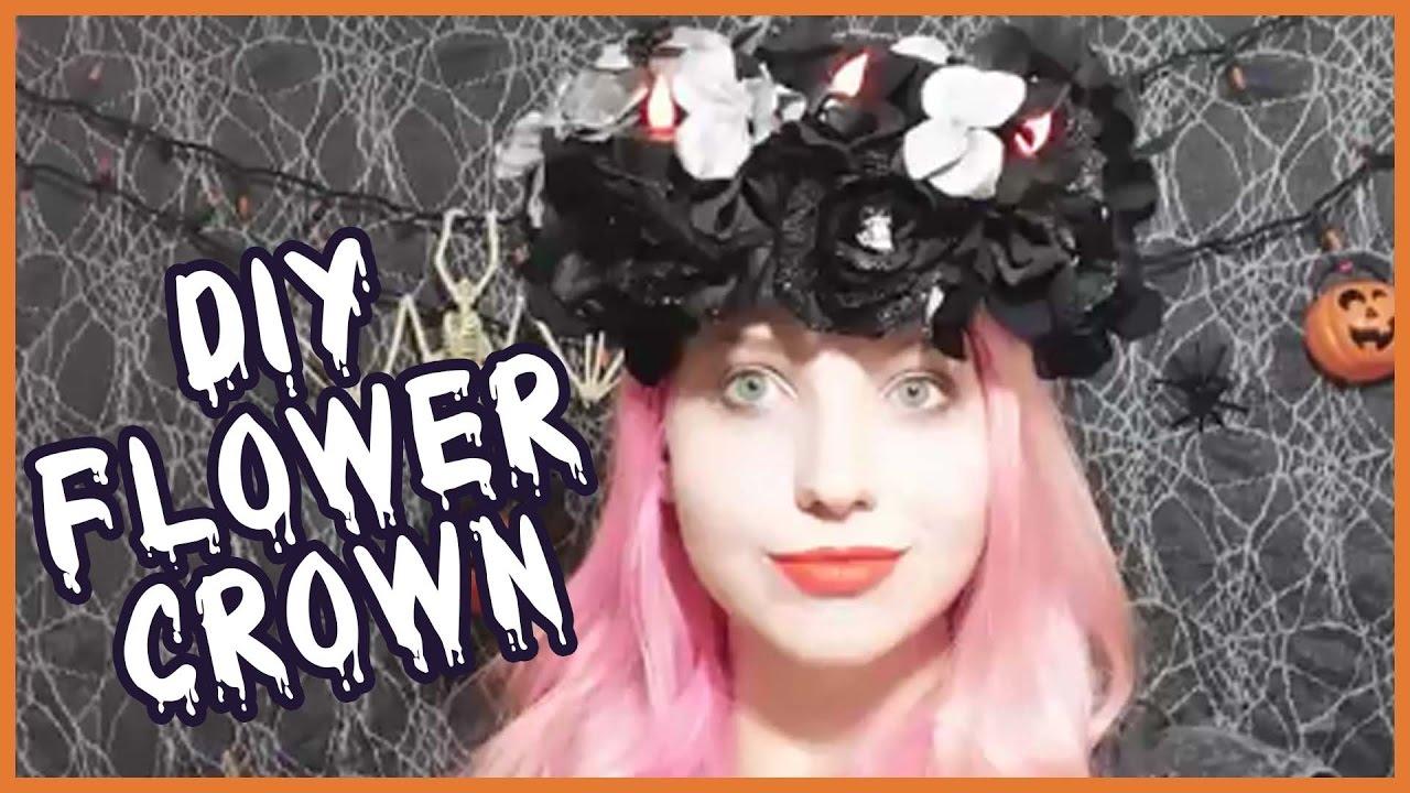 diy halloween flower crown vlogoween day 7