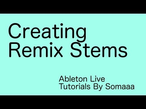How To Make Remix/Bootleg Stems From Finished Songs