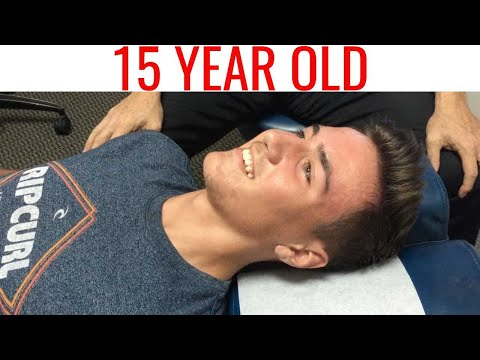 15 year old with Neck Pain & Headaches. Watch his 2 Chiropractic Adjustments WOW!