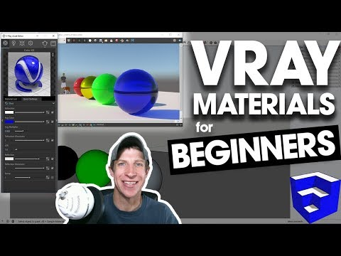 GETTING STARTED WITH VRAY MATERIALS - Vray Rendering For SketchUp Tutorial