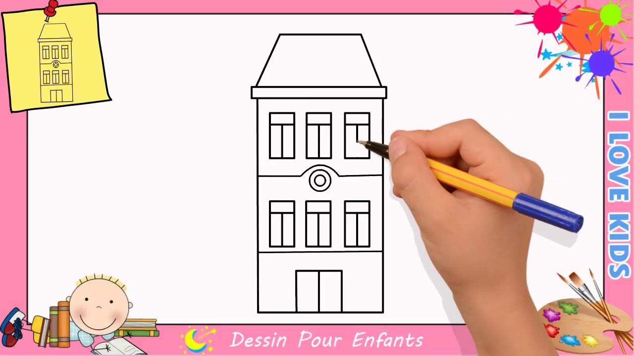 dessin maison facile etape par etape comment dessiner une maison 7 youtube. Black Bedroom Furniture Sets. Home Design Ideas
