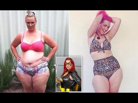 Obese Cosplay fan loses 70 kilos after seeing a photo of herself squeezed into a supersized superher