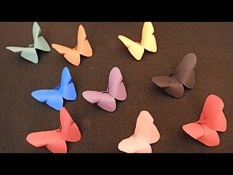 How To Make Paper Butterfly   Easy Paper Butterfly   No Glue Craft Ideas For Kids