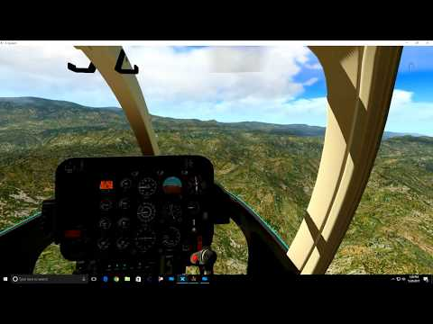X plane 11- Bell 407 in Southern California