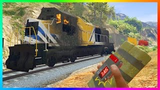 HOW TO ACTUALLY 100% STOP THE TRAIN IN GTA 5! (MYSTERY SOLVED)