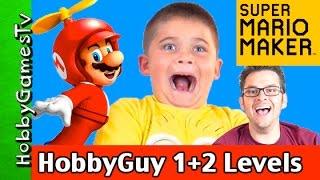 Super Mario Maker HobbyGuy Levels 1+2 Gameplay by HobbyGamesTV