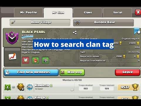How To Search Clan #tag