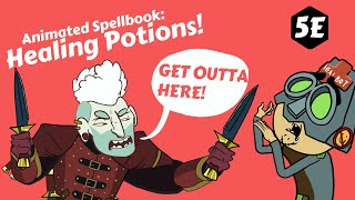 Animated Spellbook: Health potions