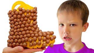 Max y Katy organizaron un desafío de chocolate