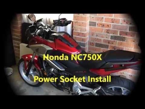 Honda NC750X Power Socket Install  YouTube