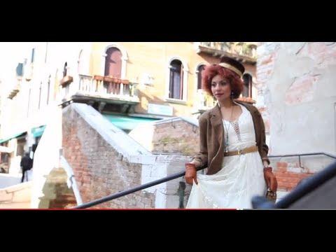 Joy Villa behind the scenes of an editorial shoot inVenice