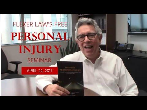 Free Personal Injury Seminar Announcement – Flexer Law, Nashville Injury Attorneys