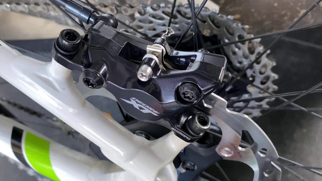 เปลี่ยนผ้าเบรคจักรยาน Shimano XT M8100 ICE Technology เองที่บ้าน