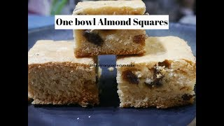 One Bowl Condensed Milk & Almond Squares (Egg & Butter free)