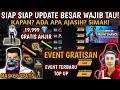 EVENT GRATISAN DIAMOND GRATIS DAN EVENT TOP UP TERBARU FREE FIRE DAN MASKER BARU RILIS