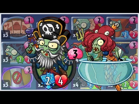 Captain Deadbeard - Event Card in Neptuna Strategy Deck - Plants vs Zombies Heroes Gameplay