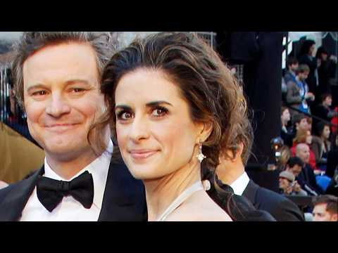 The King's Speech star Colin Firth and his family