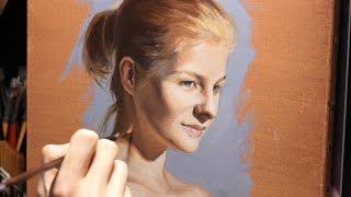 Time lapse Oil Painting Portrait - the portrait study