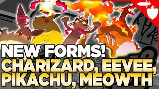 FIRST LOOK! Gigantamax Pikachu, Charizard, Eevee, and Meowth in Pokemon Sword and Shield!